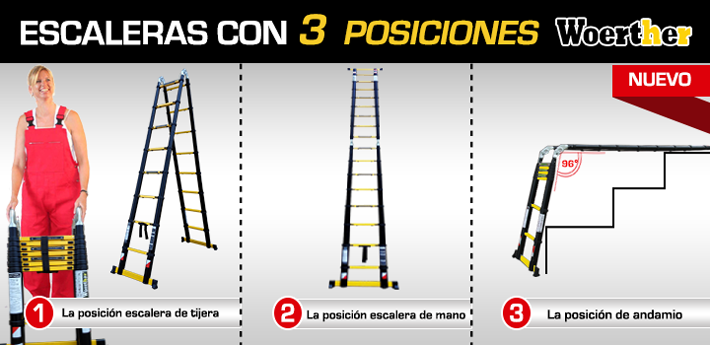Escalera tres posiciones